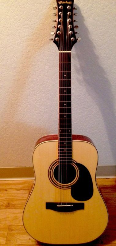 Mitchell 12-string acoustic guitar