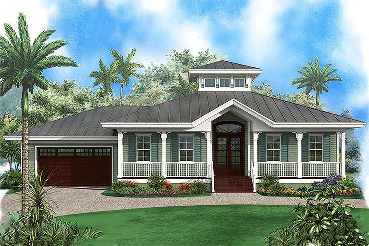 Beach Style House Plan - 3 Beds 2 Baths 1697 Sq/Ft Plan #27-481 Exterior - Front Elevation - Houseplans.com