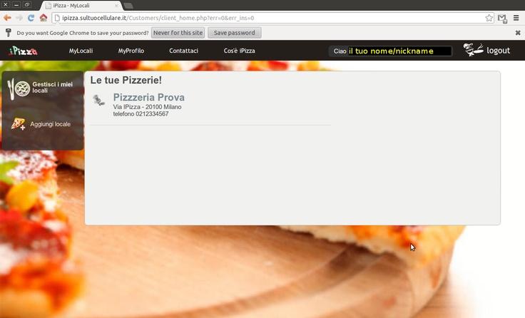 6) Congratulazioni la registrazione e' avvenuta! Attendi poche ore per la verifica dei dati da parte di iPizza e sarai subito operativo!  Buon Business!