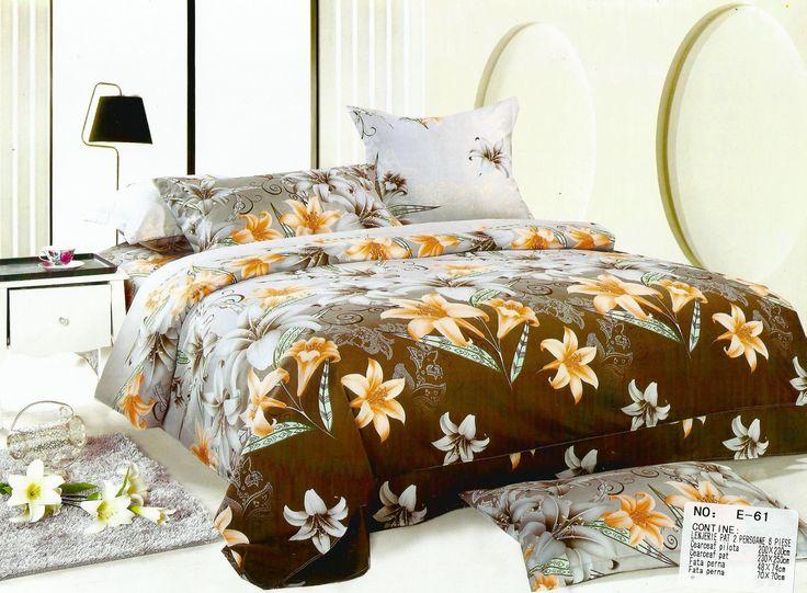 Lenjerie de pat din bumbac satinat