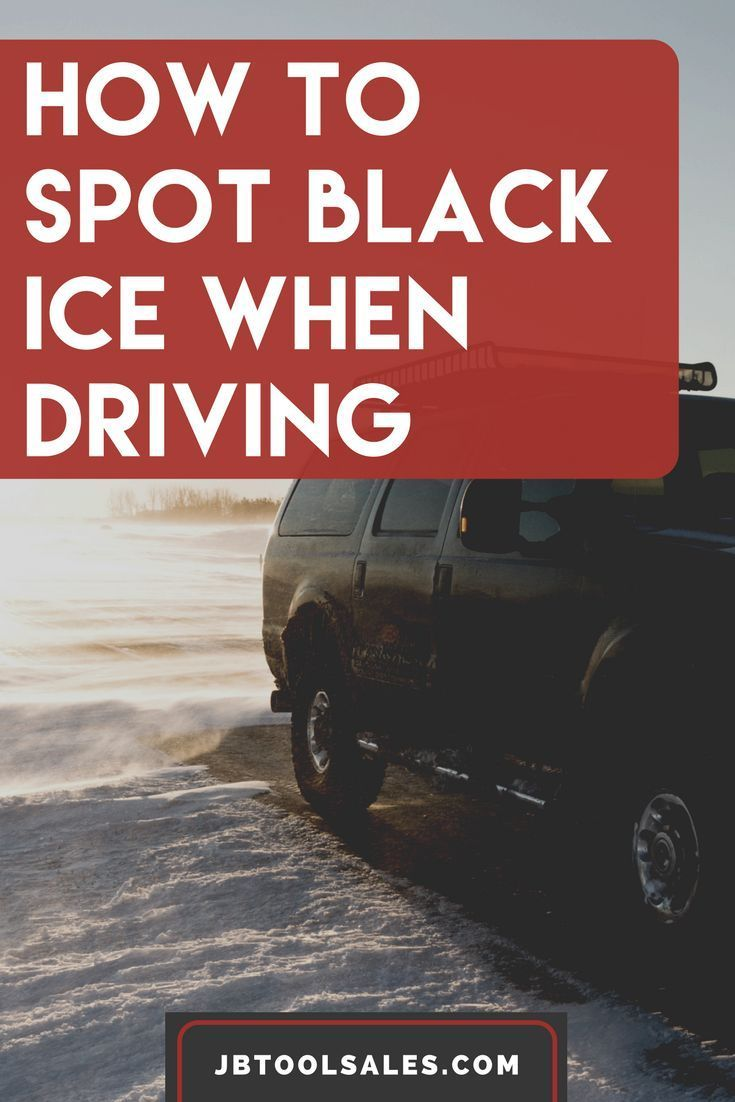 How To Spot Black Ice When You Are Driving Winter Driving