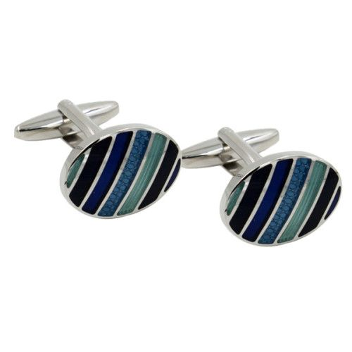 Stylish Blue & Green Cufflinks are a great addition to your wardrobe, from the boardroom to a casual event.