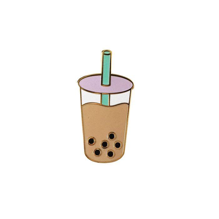 Boba Milk Tea Enamel Lapel Pin