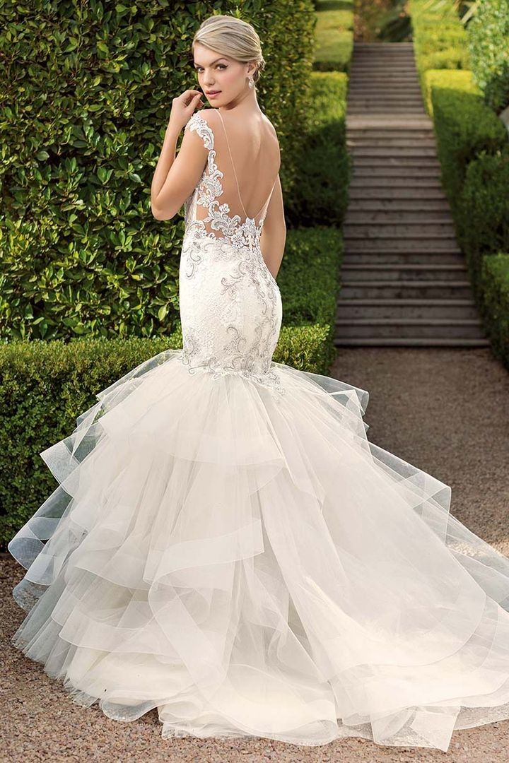 41a484bf Casablanca Bridal 2334 Blakely Trumpet Silhouette Wedding Dress in ...
