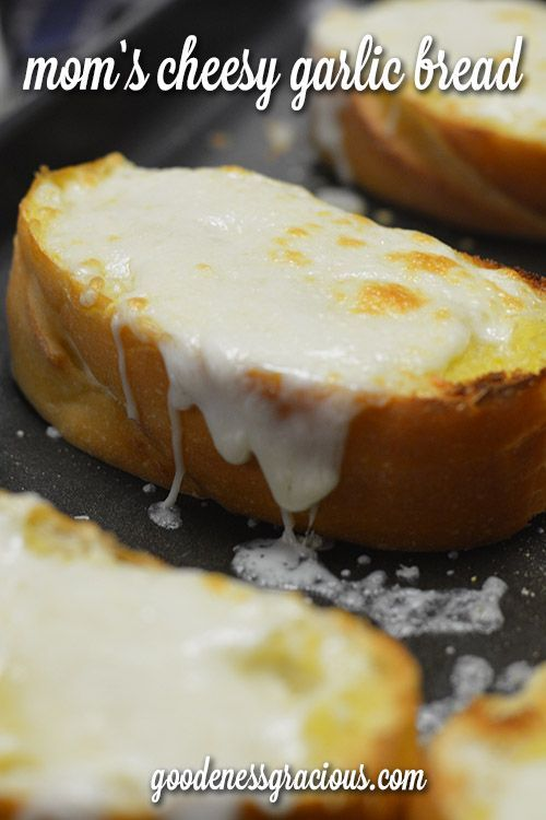 Easy Cheesy Garlic Bread-- So easy to throw together and ALWAYS a family favorite.