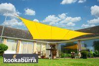 Voile d'Ombrage jaune Carré 3,6m - Imperméable - 160g/m2 - Kookaburra
