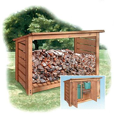 The perfect woodshed for the side of my house.