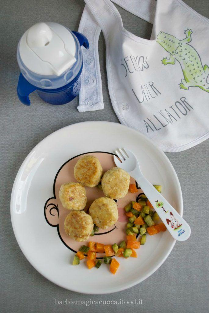 Svezzamento: polpette di pollo con zucchine e carote