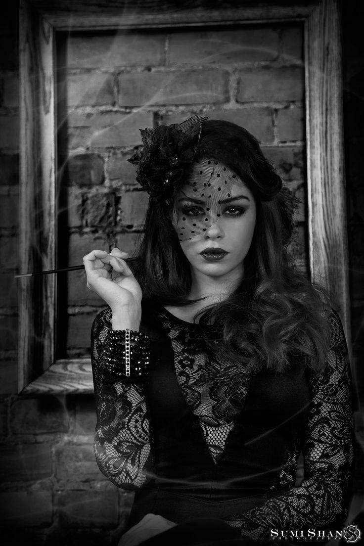 sultry portrait of model Deva Ouellet (2012) #fashion #portrait #editorial #smokey #blackandwhite #frame