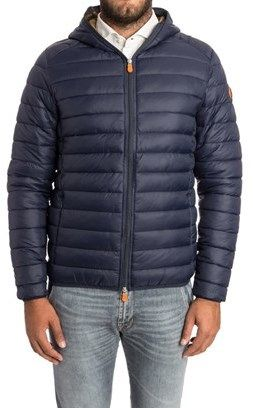 Save the Duck Save The Duck Men's Blue Polyester Down Jacket.