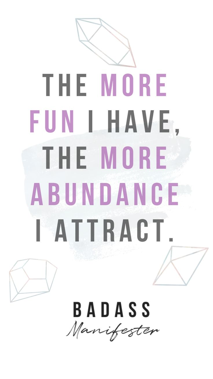 More fun, more abundance. Manifestation | Law of a…