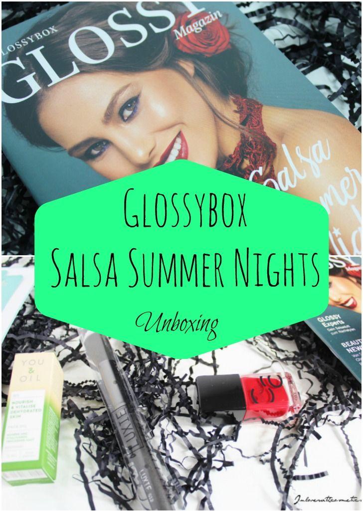 """Die Glossybox """"Salsa Summer Nights"""" ist bei mir angekommen und hat mich mit einem wahnsinnig tollen Inhalt überrascht! Diese Beautybox hat dieses mal mein Herz erobert! #glossybox #beautybox #Blogger #Blogger_de #beautyblog"""