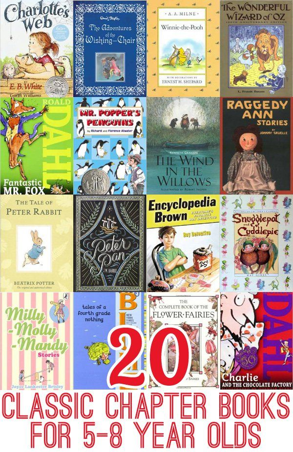 20 Classic Chapter Books to Read with 5-8 Year Olds | Classic, For ...