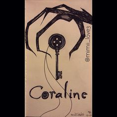 Inktober day 1: Coraline button key.