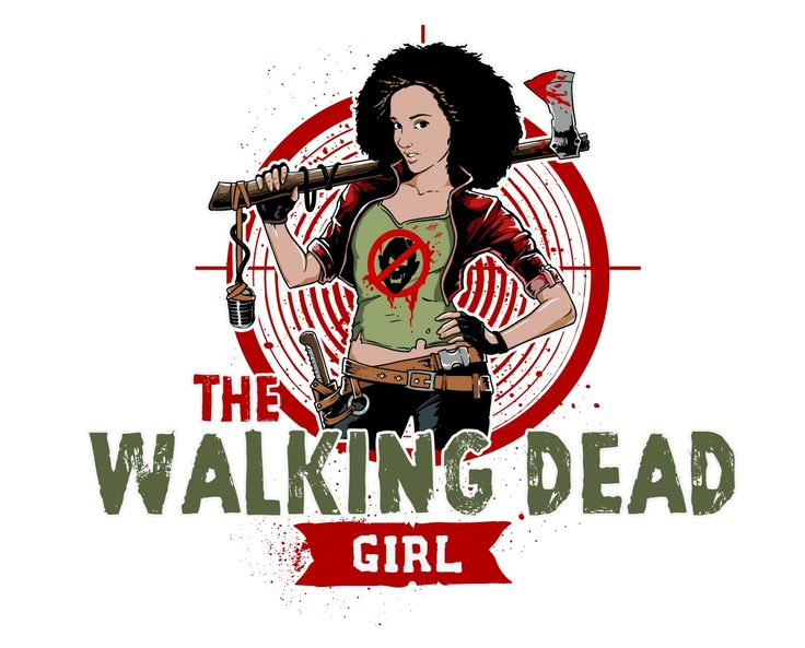 Design #5 by _Trickster_ | Blend the world of The Walking Dead with a strong female character in a logo for podcast artwork.