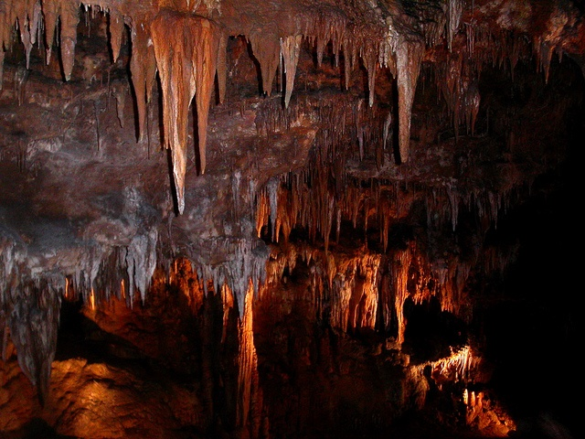 Inside Linville Caverns - near Asheville, NC