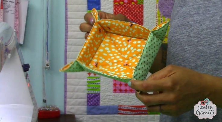Catch-All Fabric Basket Tutorial- DIY - YouTube
