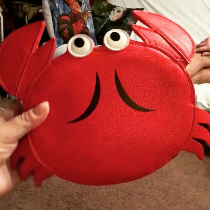 NEW PURSE I LOVE I got to represent my horoscope sign.  #crab #purse #sidecca #crabbypatties #cancer #love #retro