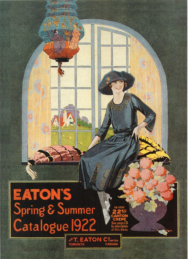 Eaton's Spring & Summer Catalogue 1922 (The T. Eaton Co. Limited) Scan from 1994 Eaton's calendar.