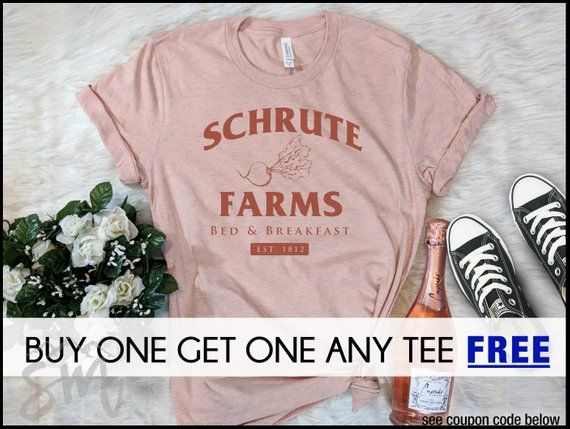 4d79d89afa TODAY: Schrute Farms T-Shirt, Funny Shirt, Gift For The Office ...