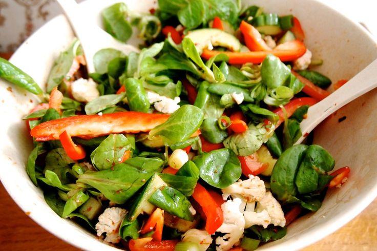 Recept: spicy maaltijdsalade   De Groene Meisjes