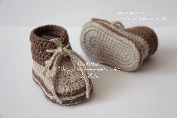 Crochet scarpette per neonati bambino scarpe di EditaMHANDMADE