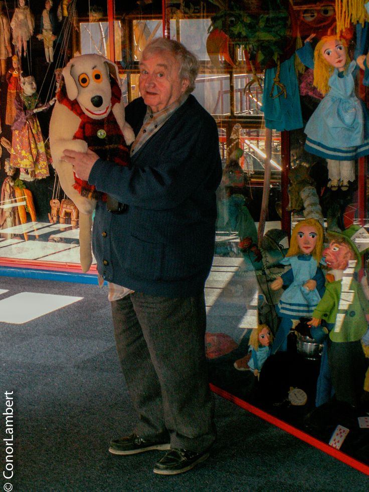 Eugene Lambert in 2007 in his family built puppet theatre.