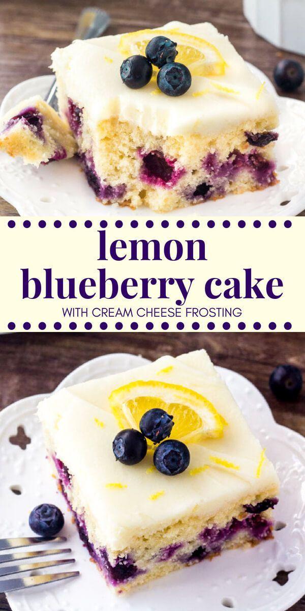 Dieser Zitronen-Heidelbeer-Kuchen beginnt mit einem feuchten und zarten Zitronenkuchen, der …   – Kuchen und Torten neu