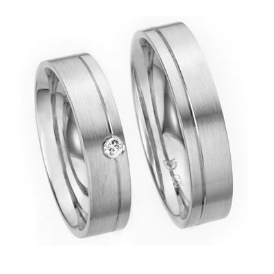 Solid His & Hers Wedding Bands