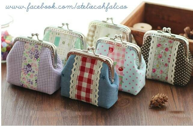 Quilted change purses