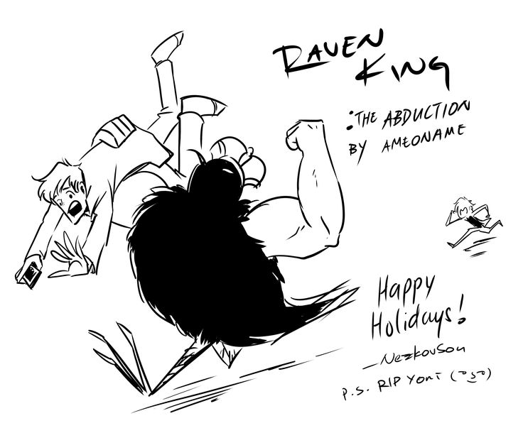 NezkovSou made another Raven King bird-with-arms pic XD always so funny!