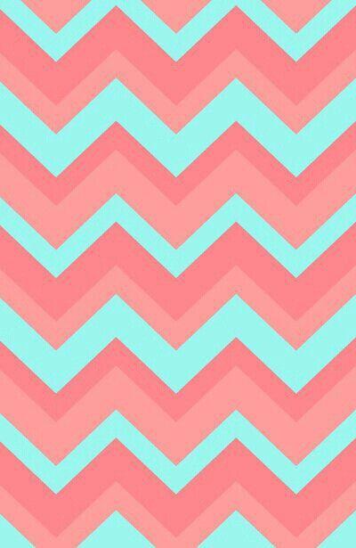 Chevron Pattern Light Pink And Blue Art Print IPhone Wallpaper