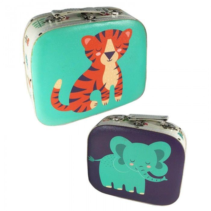 CASE23 - Set di 2 Valigette - Animali dello Zoo | Puckator IT #wildlife #zoo #accessories #puckator