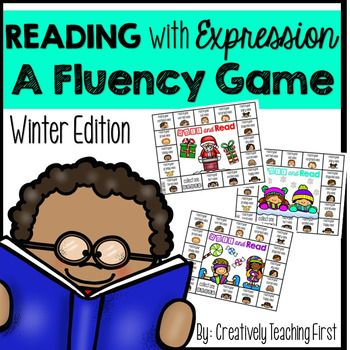 Reading With Expression {A Fluency Game-Winter Edition}