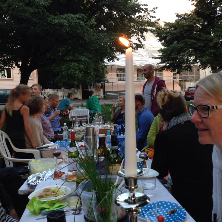 Park dinner at wooden Vallila Helsinki