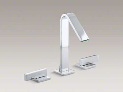Loure®  Combining a sleek profile with enhanced utility, Loure introduces a classically modern look to your bath decor. This strikingly contemporary sink faucet offers a stately design with clean, smooth lines. A pair of minimalist lever handles provide for comfortable and stylish operation. Outfitted with easy-to-install and leak-free UltraGlide™ valves, this Loure faucet is designed for precision and reliability as well as style. - Powder room possibility