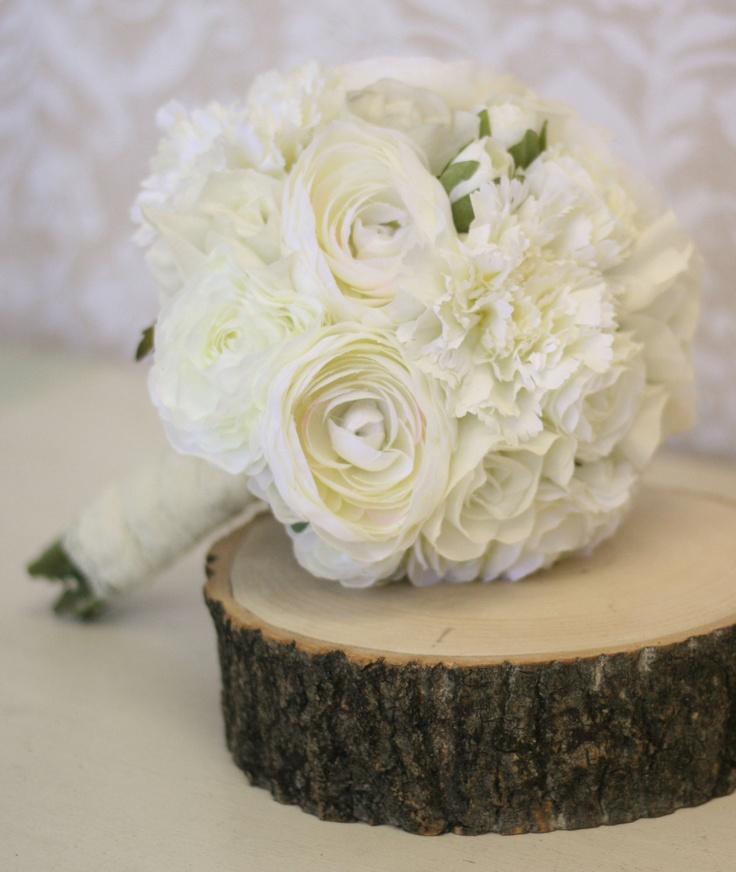Bride Bouquet Ranunculus Roses Rustic Shabby Chic Vintage Wedding