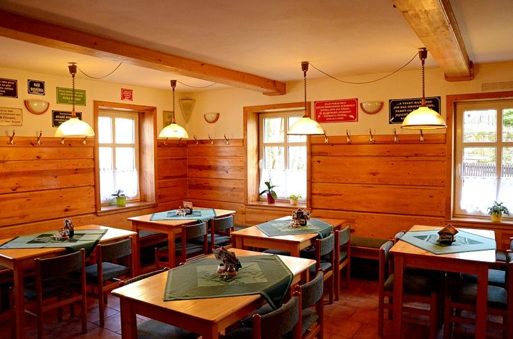 Cosy restaurant in the Hotel U Zeleného stromu near Hrensko - Bohemian Saxon Switzerland