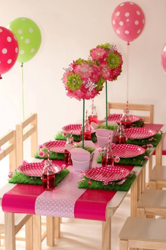 Kids birthday party table decorations