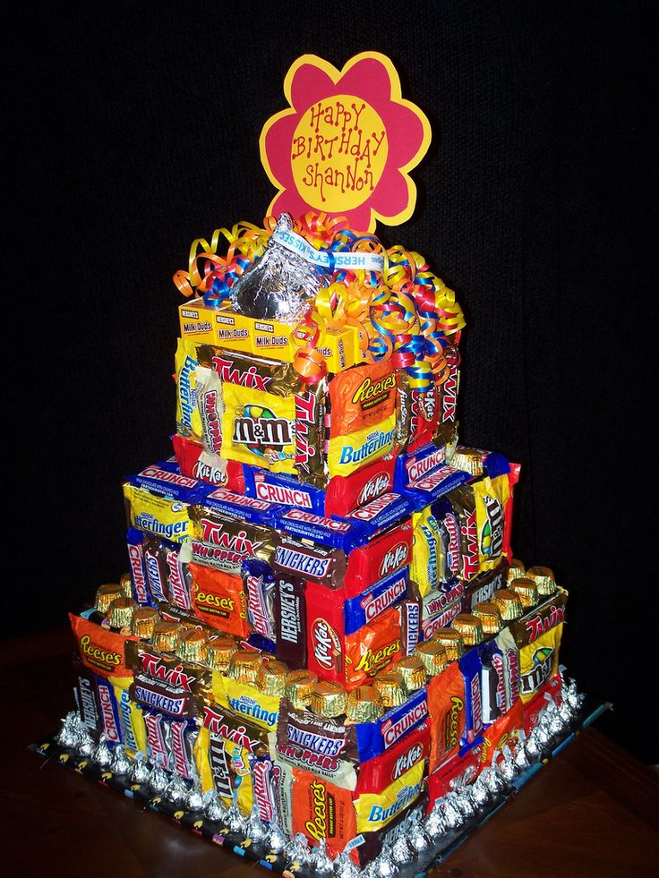 Going to use this candy cake as inspiration for a center piece