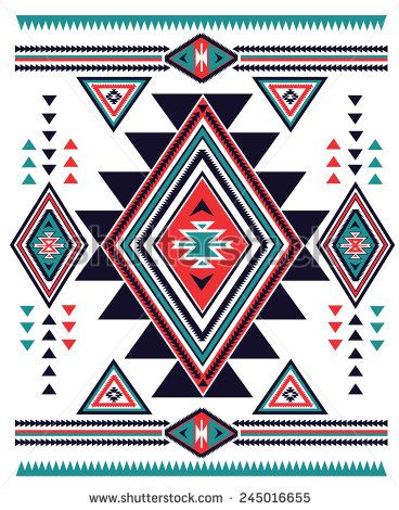 Navajo Aztec big pattern vector illustration  - stock vector