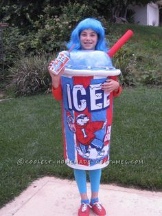 coolest life sized homemade icee costume for a girl funny kid costumeshalloween - Homemade Halloween Costume Ideas For Boys
