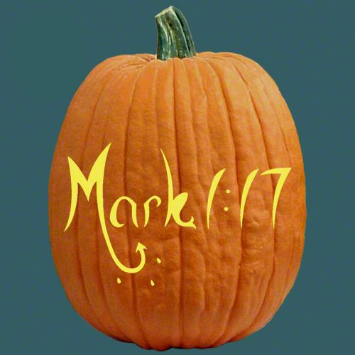 One of free stencils for pumpkin carving