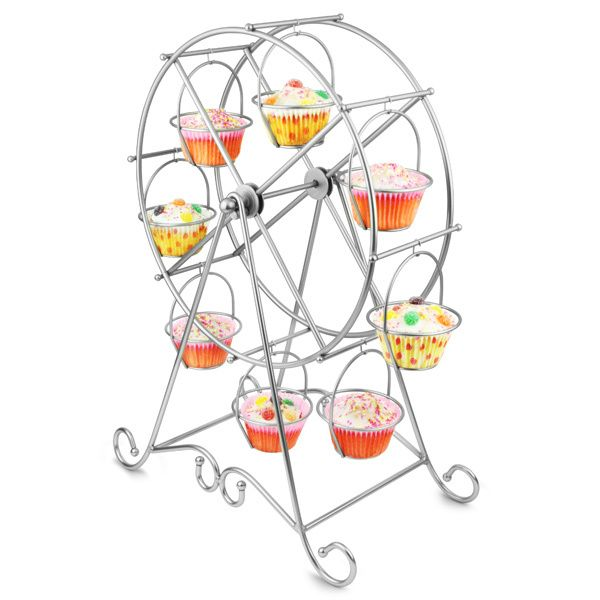 Big Promotion!!! High-quality Metal Cupcake Stand likes Ferris Wheel  to Hold and Decorate 8 pcs Cupcake Original price is $25.00, 33% off, now just 16.75$.