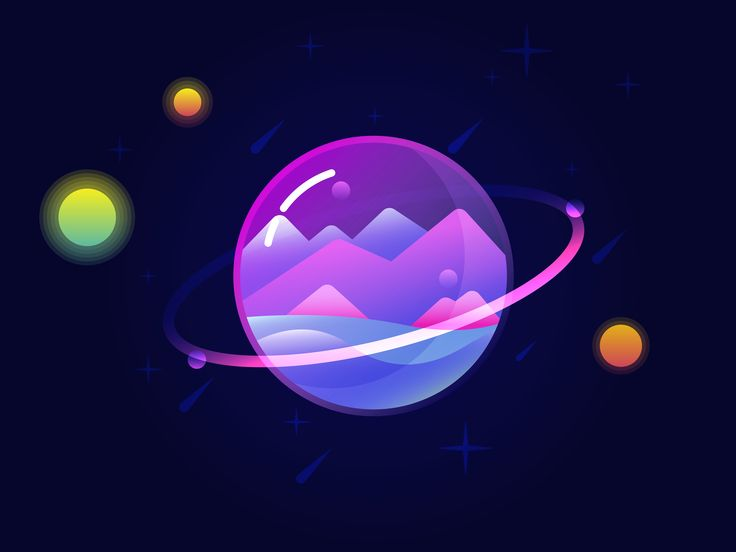 Glass Planet Vector Illustration
