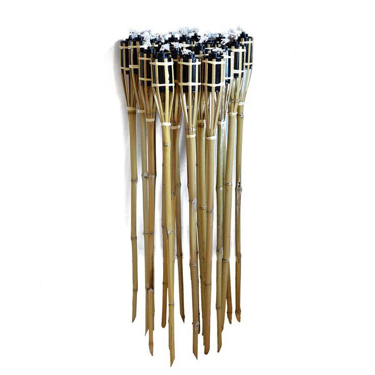 36x Tiki Torches Bamboo Garden Torch Light 90cm For Birthday,  Wedding,Outdoor
