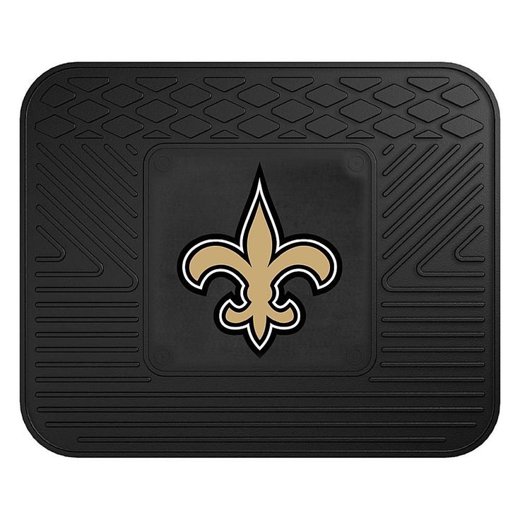 "Officially Licensed NFL Team Logo 14"" x 17"" Mat by Sports Licensing Solutions - Cowboys - Saints"