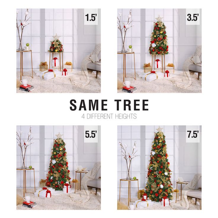 The worlds simplest pre-lit and pre-decorated Christmas Tree.  Extendable and retractable. Grow from 1.5 ' to 7.5' by simply adding additional sections