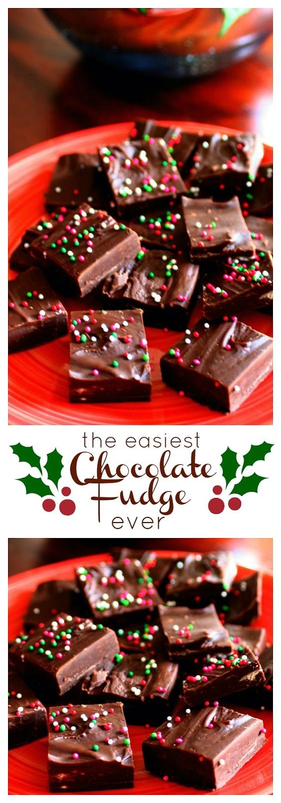 The easiest (and super delicious) Chocolate Fudge recipe ever!