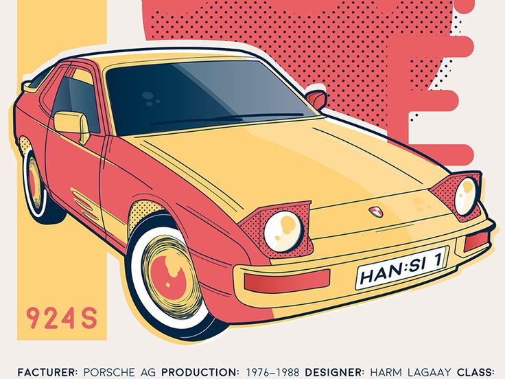 Porsche 924s:   Personal project I did for a friend who rides that diamond.  Find more stuff on instagram